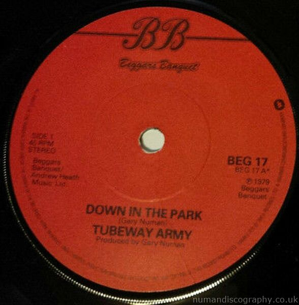 Tubeway Army Down In The Park 1979 UK