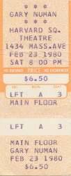 Boston Ticket