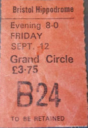 Bristol Hippodrome Ticket