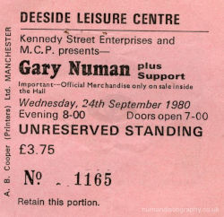 Deeside Ticket 1980
