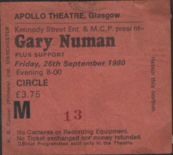 Glasgow Ticket 1980