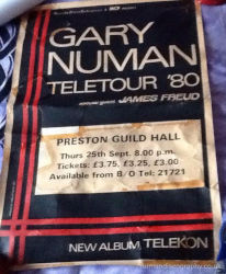 Gary Numan Virgin Poster 1980 UK