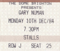 Brighton Ticket 1984