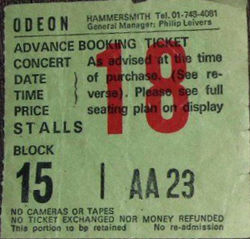 London Ticket 1984