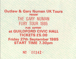 Guildford Ticket 1985