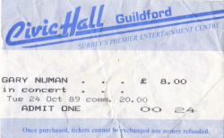 Guildford Ticket 1989