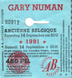 Brussels Ticket 1991