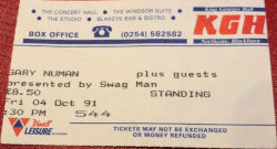 Blackburn King Georges Hall Ticket