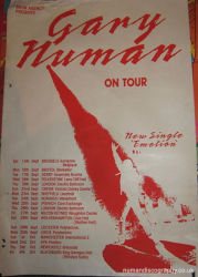 Gary Numan 1991 Emotion Tour Poster