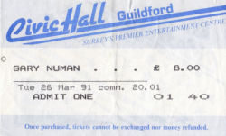 Guildford Ticket 1991