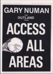 Gary Numan 1991 Outland Access Pass