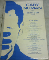 Gary Numan Isolate Tour Poster 1992 UK