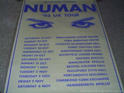 Gary Numan Dream Corrosion Tour Poster 1993 UK
