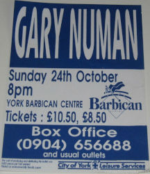 Gary Numan Dream Corrosion Venue Poster 1993 UK