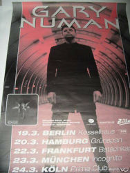 Gary Numan Exile Poster 1998 Germany