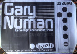 Gary Numan Exile Tour Poster 1998 Netherlands