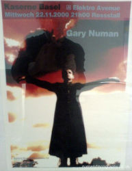 Gary Numan Pure Venue Poster 2000 Switzerland