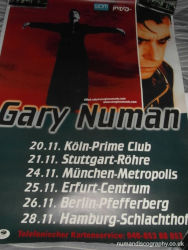 Gary Numan Pure Tour Poster 2000 Germany