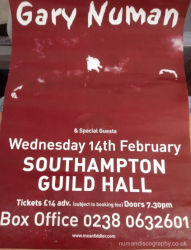 Gary Numan Pure Venue Poster 2001 UK