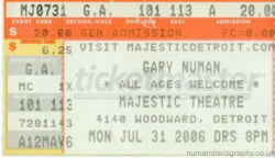Detroit Ticket 2006