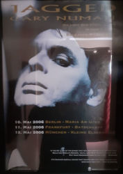 Gary Numan 2006 Jagged Tour Poster Germany