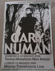 Gary Numan 2006 Jagged Tour Poster Italy