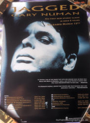 Gary Numan Jagged Tour Poster 2006 UK