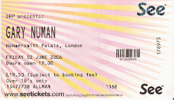 London Hammersmith Palais Ticket 2006