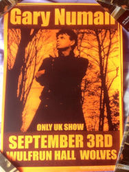 Gary Numan Venue Poster 2006 UK