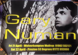 Gary Numan Jagged Venue Poster 2006 UK