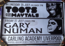 Gary Numan Venue Poster 2007 UK