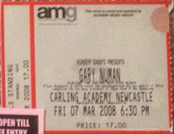 Newcastle Ticket 2008