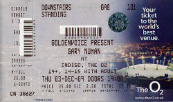 London Indigo 02 Ticket 2009