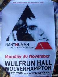 Gary Numan Venue Poster 2009 UK