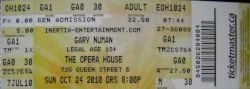 Toronto Ticket Gary Numan October 2010