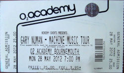 Bournemouth Ticket 2012