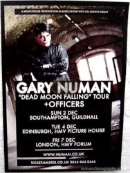 Gary Numan Venue Poster 2012 UK