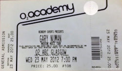 Glasgow Ticket 2012