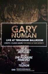 Gary Numan Poster 2015 Los Angeles