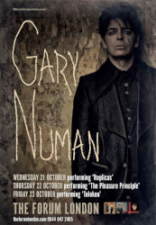 Gary Numan Venue Poster 2015 UK