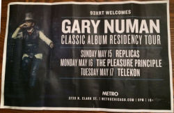 Gary Numan Venue Poster 2016 Chicago