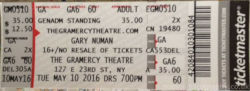 New York Ticket 2016