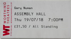 Worthing Assembly Hall Ticket 2018