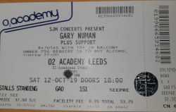 Gary Numan Leeds Ticket 2019